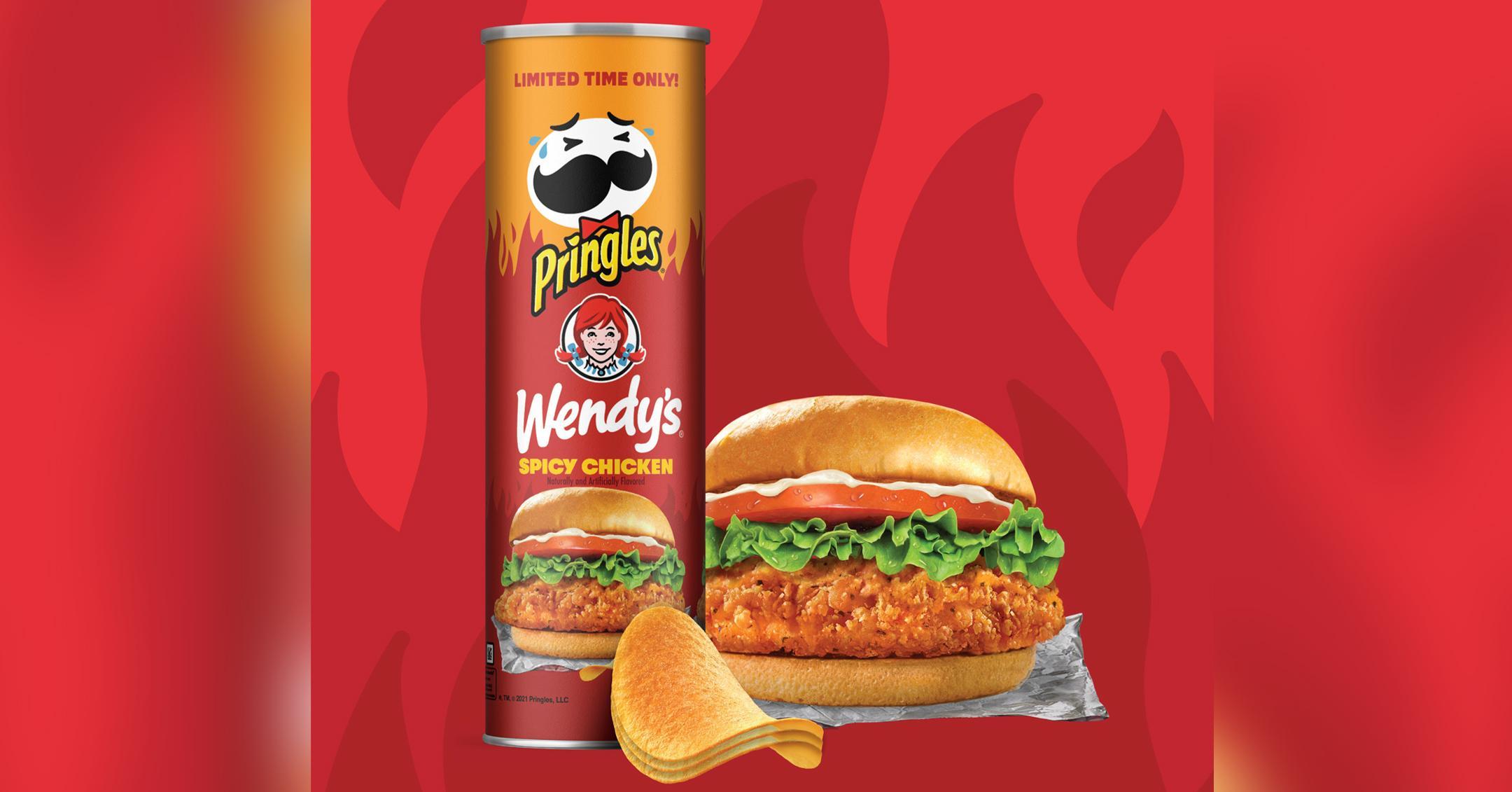 the newest pringles flavor wendys spicy chicken sandwich