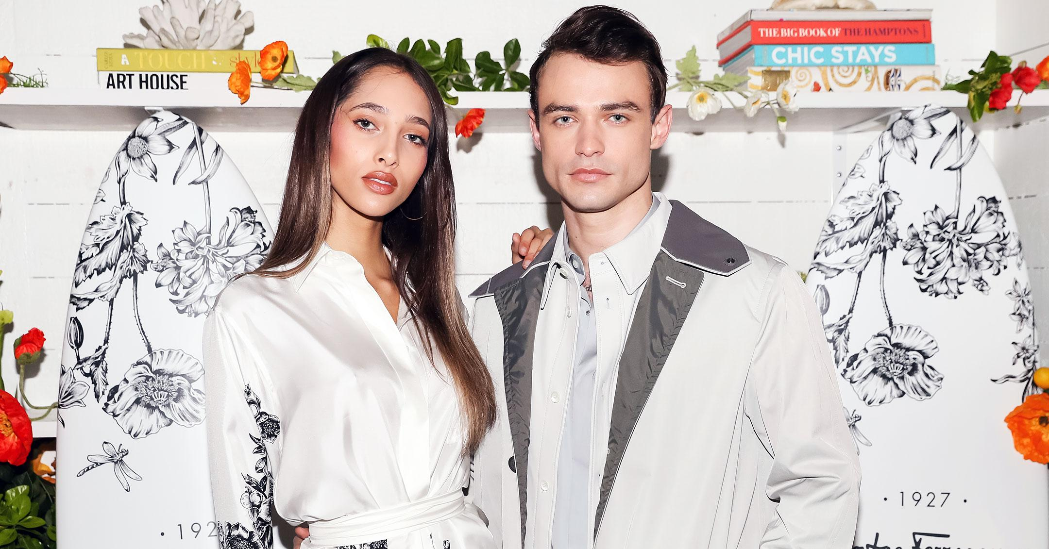 gossip girl star thomas doherty and yasmin wijnaldum make romance red carpet official mh