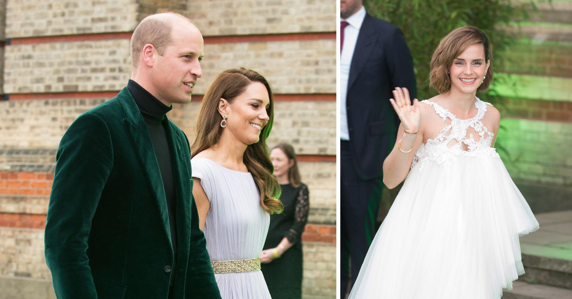 prince william and kate and emma watson at the earthshot prize awards pp