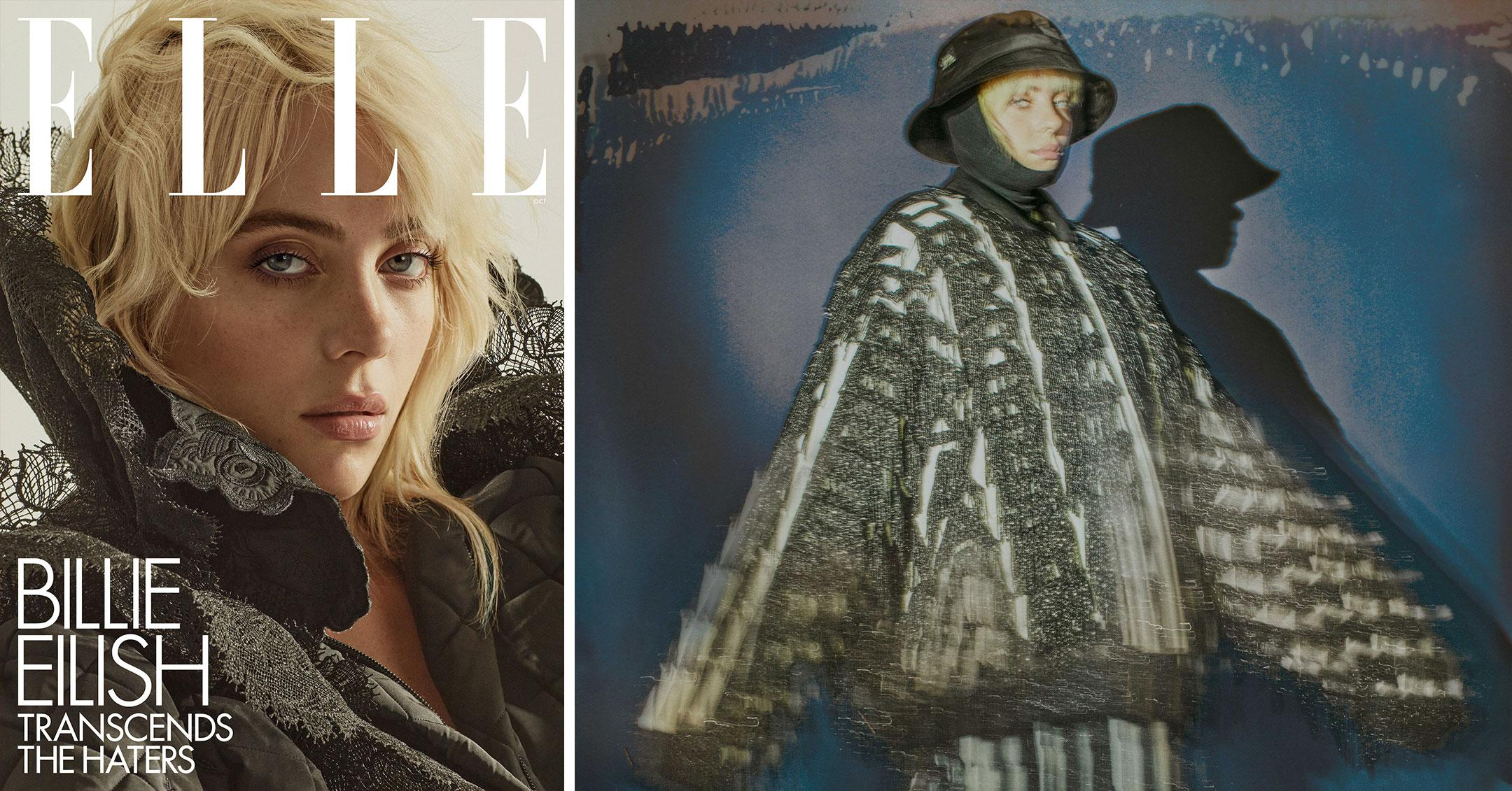 billie eilish covers the october  issue of elle pp