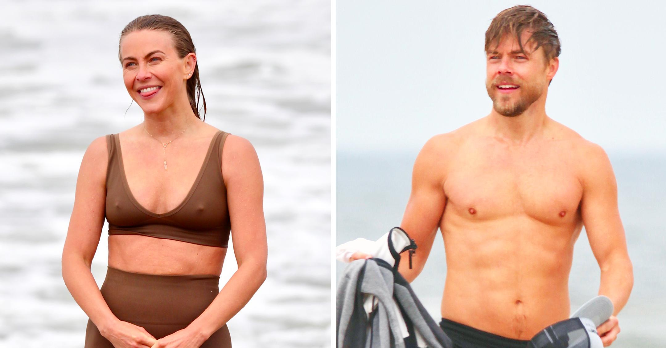 derek hough and julianne hough are spotted hanging out in venice beach mh