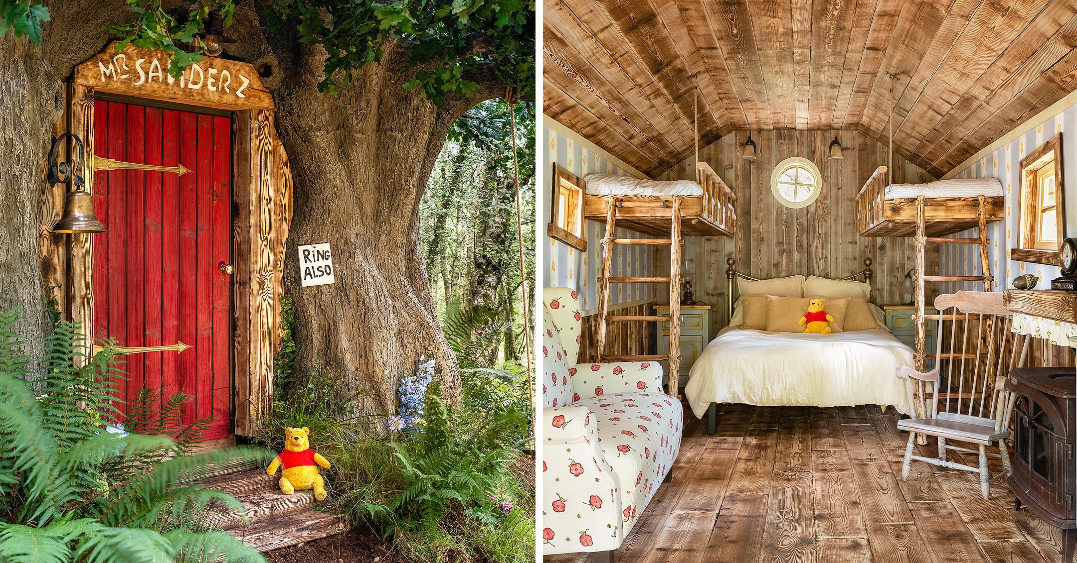 a winnie the pooh inspired house in the hundred acre wood is available to book on airbnb