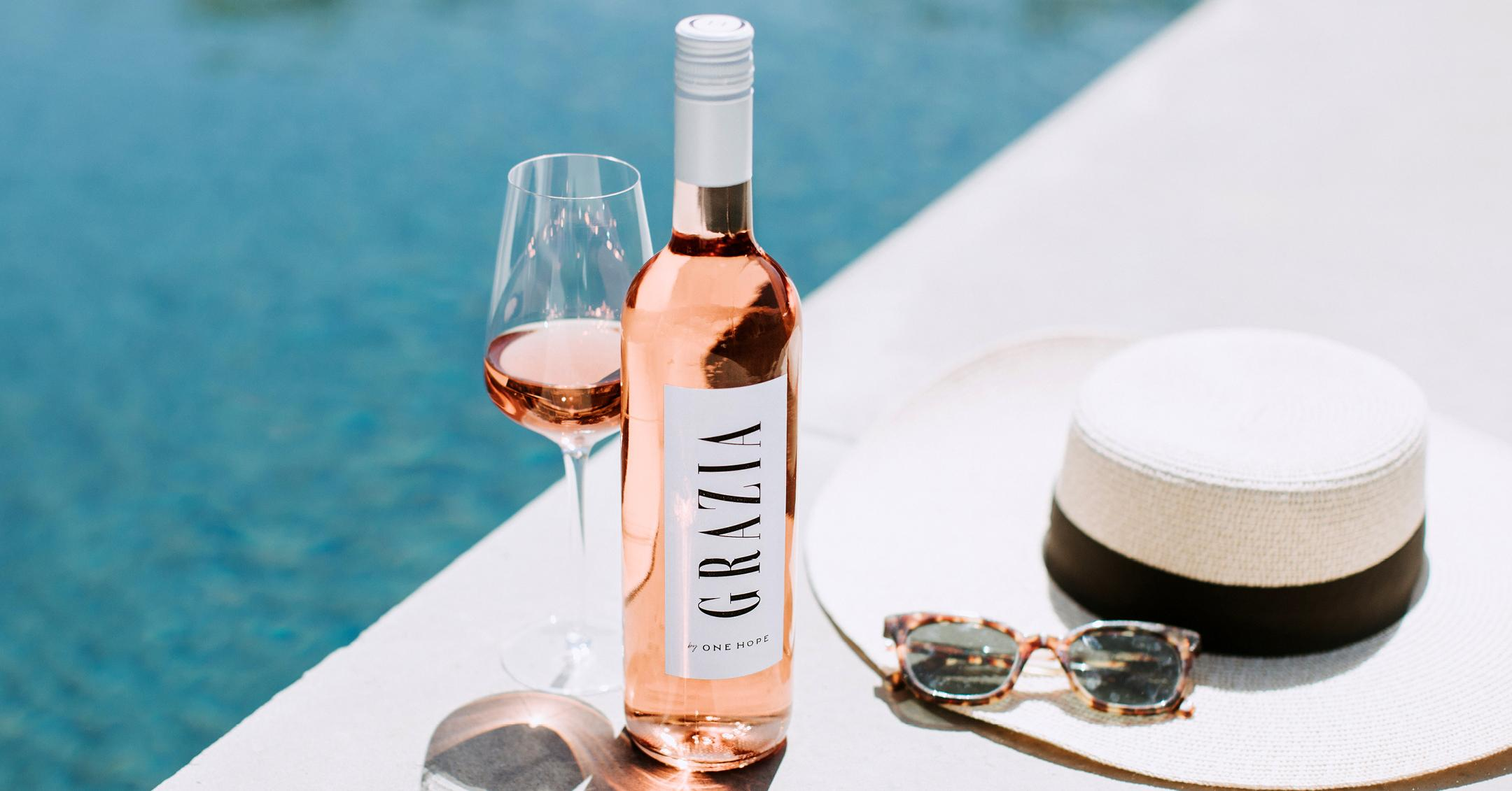 grazia and onehope wines rose collab sip of the summer