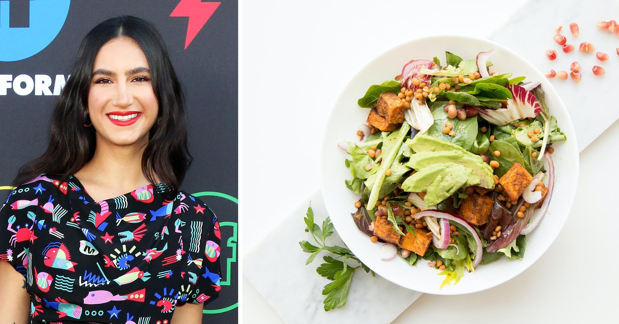 the bold type star nikohl boosheri summer salad vegan avocado lovers