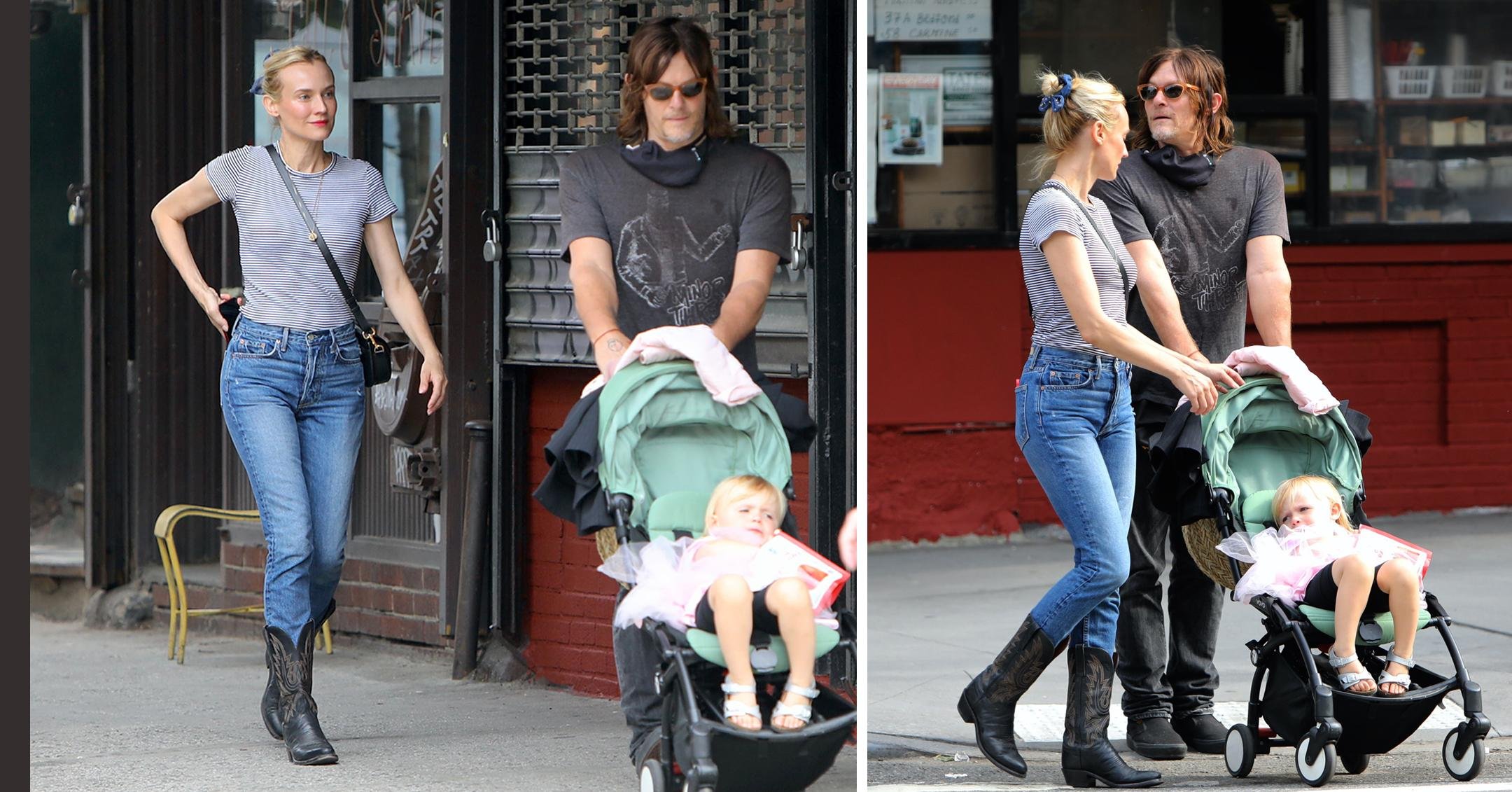 diane kruger and norman reedus seen with daughter in nyc