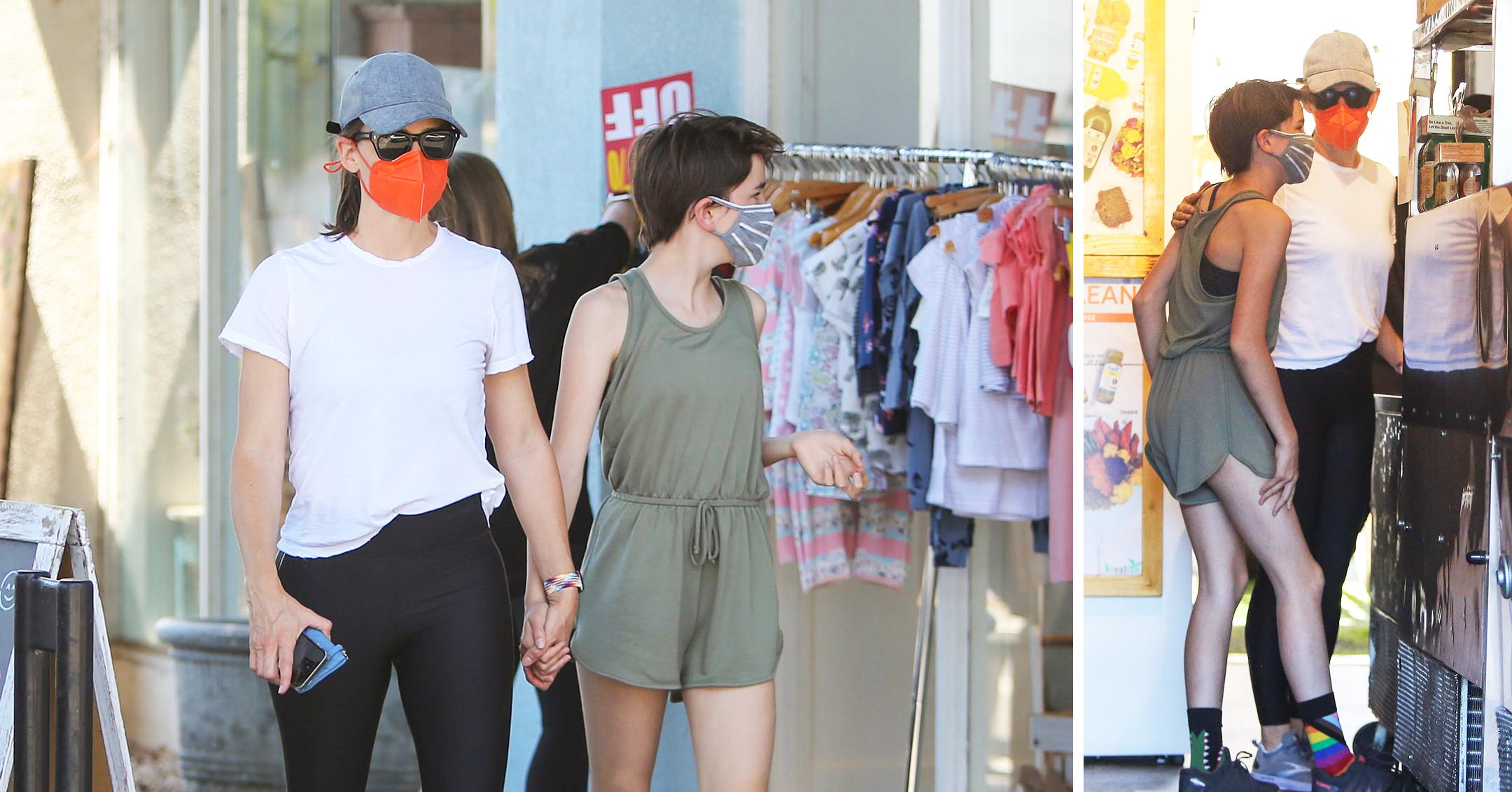 jennifer garner and seraphina affleck are seen in los angeles mh