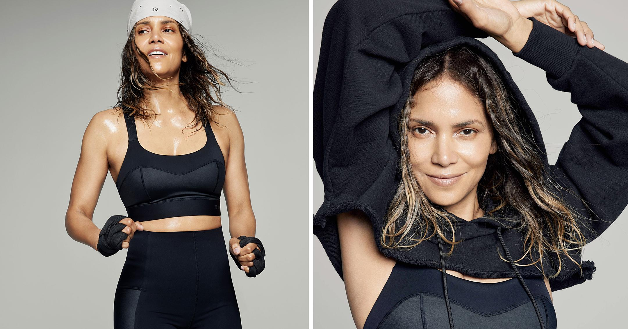 halle berry models for sweaty betty